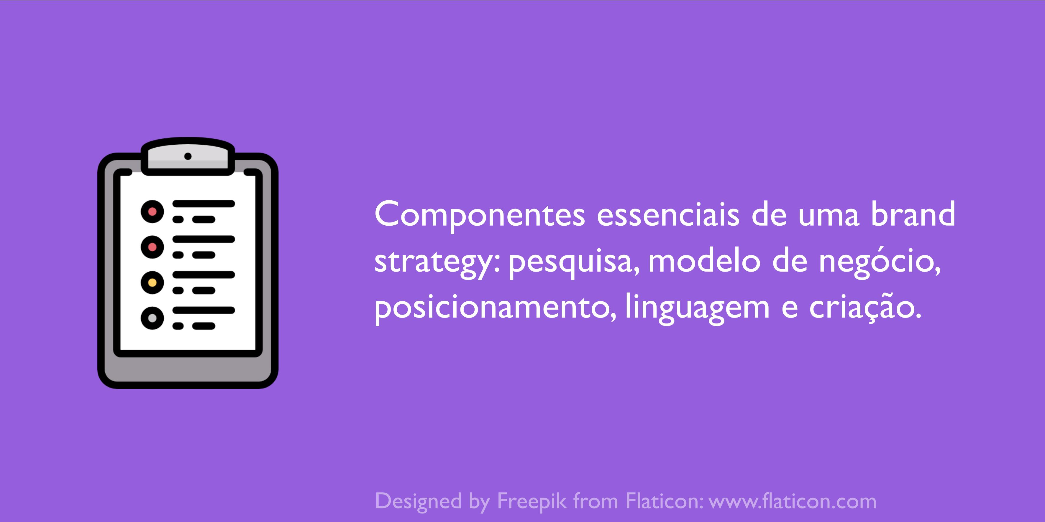 Componentes de uma brand strategy