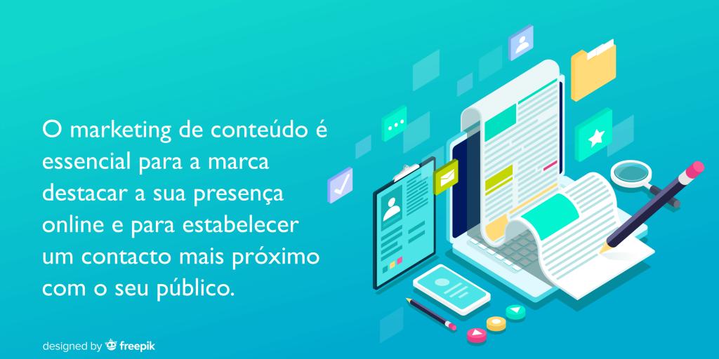 Marketing de conteúdo; presença da marca online; público.