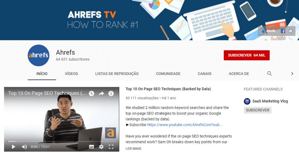 Ahrefs; SEO; search engine optimization; otimização para motores de busca; marketing digital.