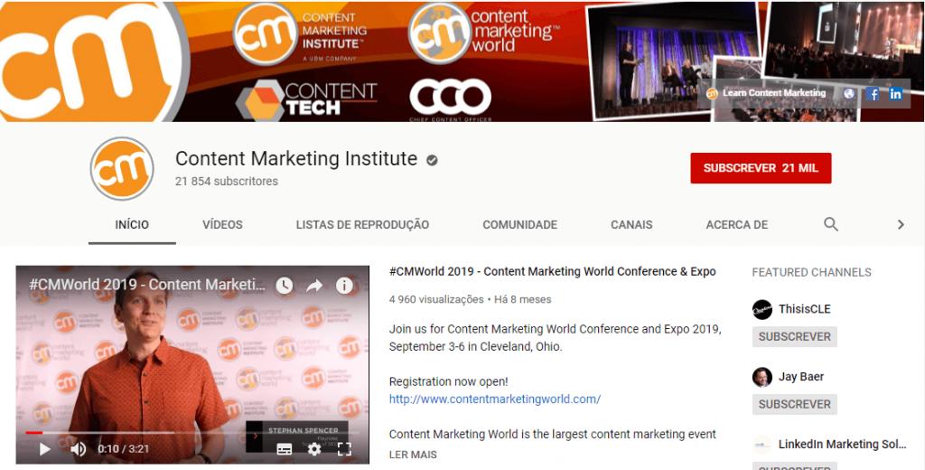 Content marketing institute; content marketing; inbound marketing; marketing de conteúdo; social media.