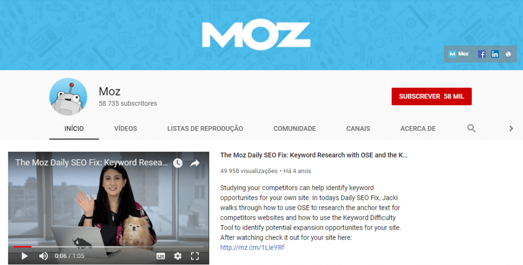 Moz; SEO; search engine optimization; otimização para motores de busca; keyword research.