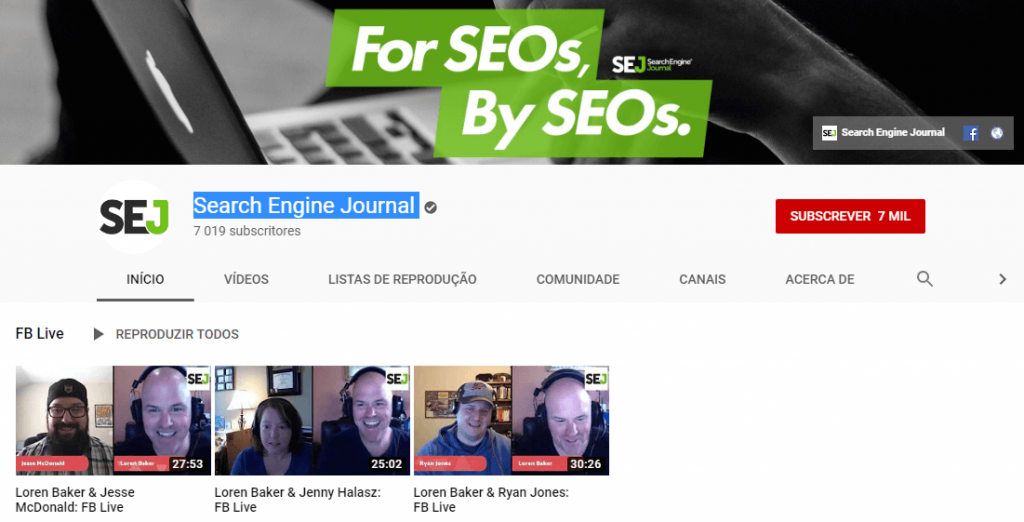 Search Engine Journal; SEO; Search Engine Optimization; Otimização para motores de busca.