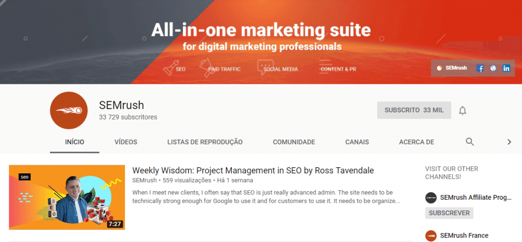 SEMrush; SEO; SEM; search engine optimization; digital marketing.