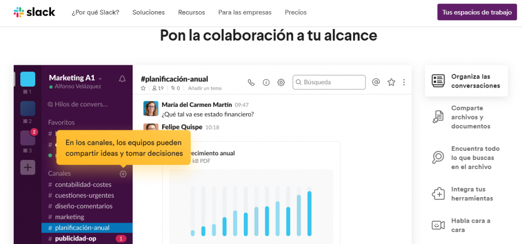 Slack; redes social corporativa.